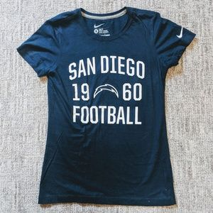 NIKE | San Diego Chargers football T shirt